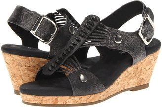 Walking Cradles Alicia (Black Washed Leather) - Footwear