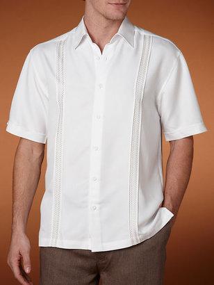 Cubavera X Stitch Panel Shirt - Big & Tall