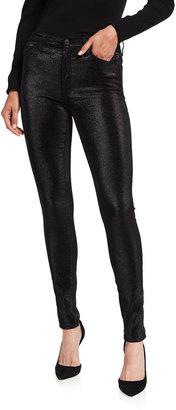 Black Orchid Gisele High-Rise Metallic Skinny Jeans