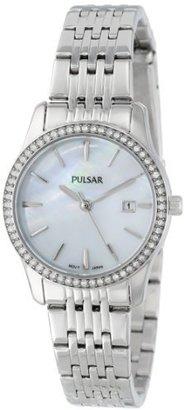 PULSAR Unisex PH7233 Analog Japanese-Quartz Silver Watch $53.65 thestylecure.com