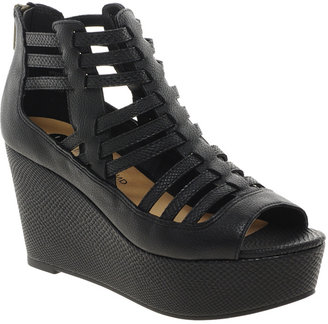 River Island Strappy Caged Flatform Sandals