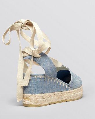 Ralph Lauren Platform Wedge Espadrille Sandals - Uma