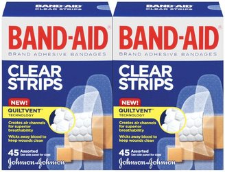 Safety First Band-Aid Comfort - Flex Clear Bandages - 20 ct - 2 pk