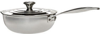 Le Creuset 3.5 Qt Stainless Steel Saucier Pan with Helper Handle