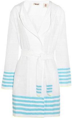 Lemlem Maleda cotton-blend voile robe