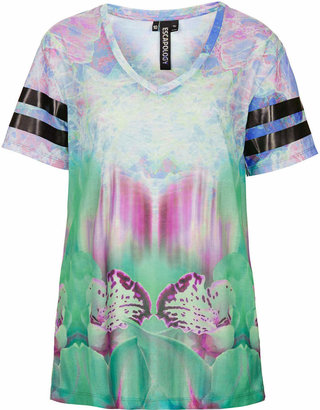 Topshop Escapology Blurred orchid v neck tee