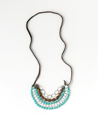 Coldwater Creek Turquoise & pearl necklace