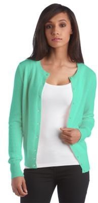 Lord & Taylor Petite Fall Soft Collection Cashmere Crewneck Cardigan