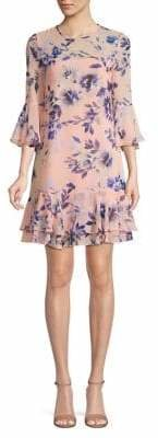 Eliza J Floral-Print Shift Dress