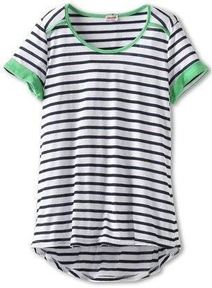 Splendid Littles Girls' Corsica S/S Top (Big Kids) (White) - Apparel