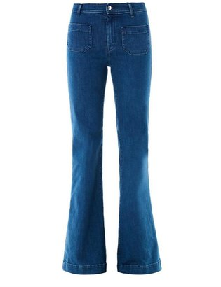 Seafarer Circle high-rise flared jeans