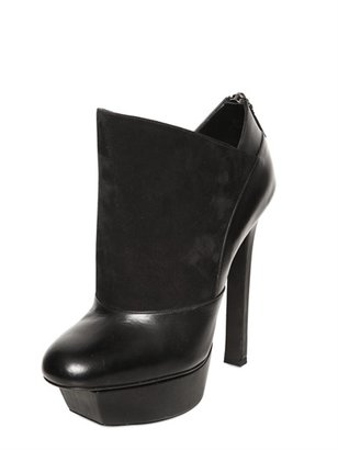 Diego Dolcini 140mm Leather And Suede Low Boots