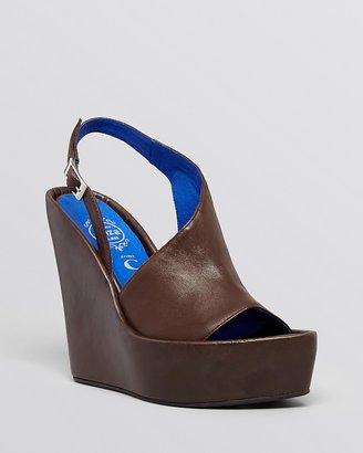 Jeffrey Campbell Open Toe Platform Wedge Sandals - Mimosa