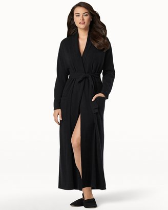 Soma Intimates Long Cashmere Robe Black