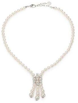 Majorica White Pearl & Sterling Silver Tassel Necklace