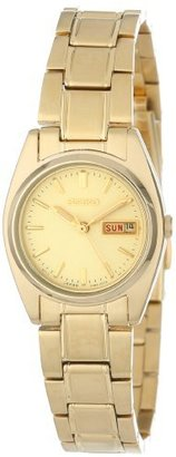 Seiko Women's SXA122 Functional Gold-Tone Stainless Steel Watch $195 thestylecure.com