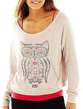 JCPenney Long-Sleeve Owl Tee