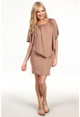 Alejandra Sky Lillie Dress (Tan) - Apparel