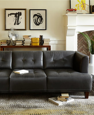 Alessia Leather Sofas, 2 Piece Set (Sofa and Loveseat)