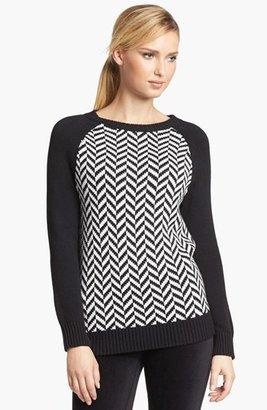 MICHAEL Michael Kors Herringbone High/Low Sweater