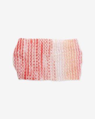 Missoni Metallic Ombre Stripe Knit Headband: Red