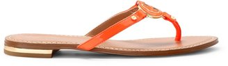 C. Wonder Patent Leather Enamel Logo Thong Sandal