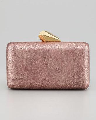 Kotur Espey Crinkled Leather Minaudiere, Rose Golden