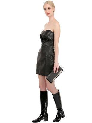 Saint Laurent Lutetia Micro Studs Leather Clutch