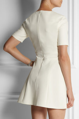 Tibi Paneled stretch-crepe mini dress