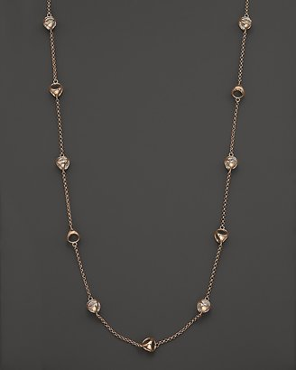 Di Modolo Rose Plated Long Strand Rock Crystal Necklace, 40""