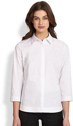 Saks Fifth Avenue Collection Poplin Cutaway Shirt
