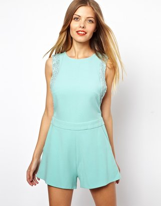 Asos Playsuit with Lace Trim