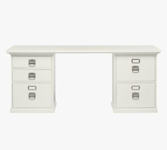 "Pottery Barn Bedford 70"" Desk with Drawers"