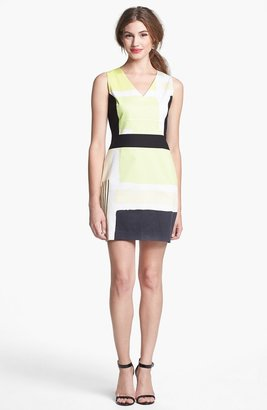 Kenneth Cole New York 'Marci' Colorblock V-Neck Dress