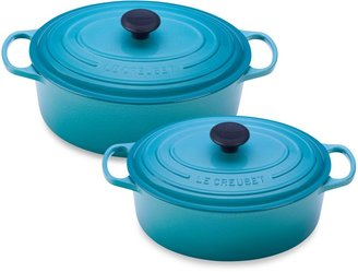Le Creuset Signature Oval French Oven in Caribbean