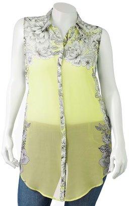 Apt. 9 floral chiffon blouse - women's plus