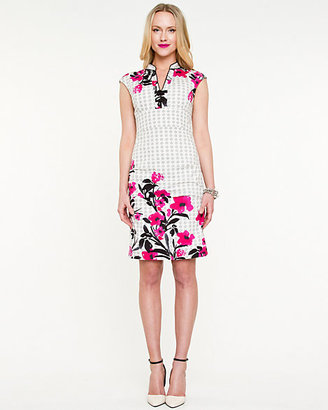 Le Château Floral Fitted Dress