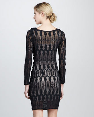 Of Two Minds Della Stretch-Crochet Dress