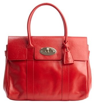 Mulberry red leather 'Bayswater' top handle handbag