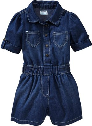 Old Navy Denim Button-Front Rompers for Baby