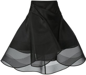 Peter Pilotto 'Cycle' marquisette structured skirt
