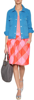 Marc by Marc Jacobs Shocking Orange/Pink Stacy Check Skirt
