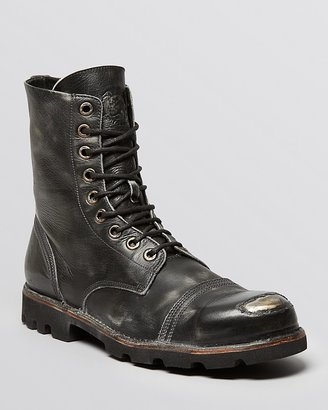 Diesel Hardkor Steel Lace-Up Boots $395 thestylecure.com