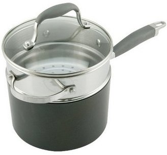 Anolon 'Advanced' Stainless Steel Saucepan With Steamer 18cm