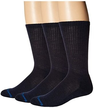 Smartwool Heathered Rib 3-Pair Pack (Black) Men's Crew Cut Socks Shoes