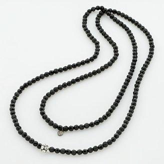 Vera Wang Simply Vera Jet-Tone Crystal Long Necklace