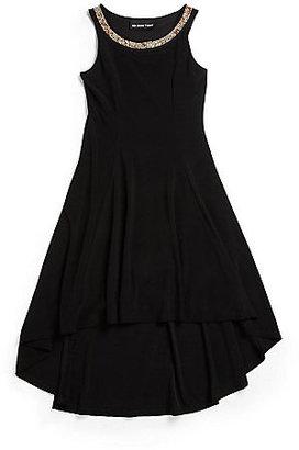 Un Deux Trois Girl's Hi-Lo Bejeweled Dress