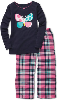 Carter's Girls' 2-Piece Butterfly Pajamas