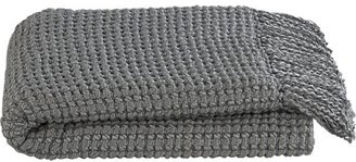 Crate & Barrel Gabriel Grey Throw
