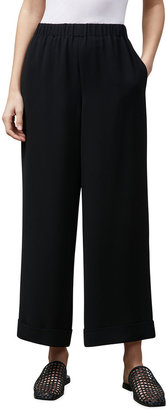 Lafayette 148 New York Riverside Pull-On Ankle Pants with Cuffs